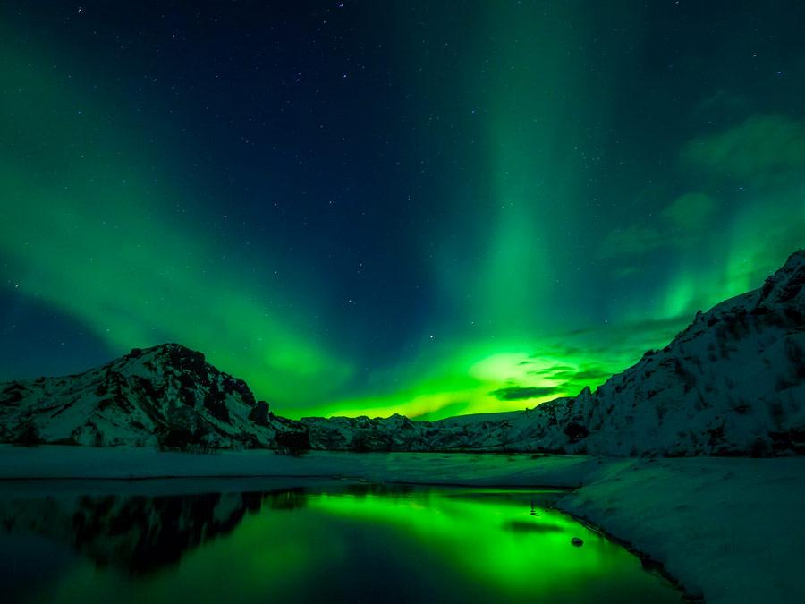 Auroras boreales. Islandia