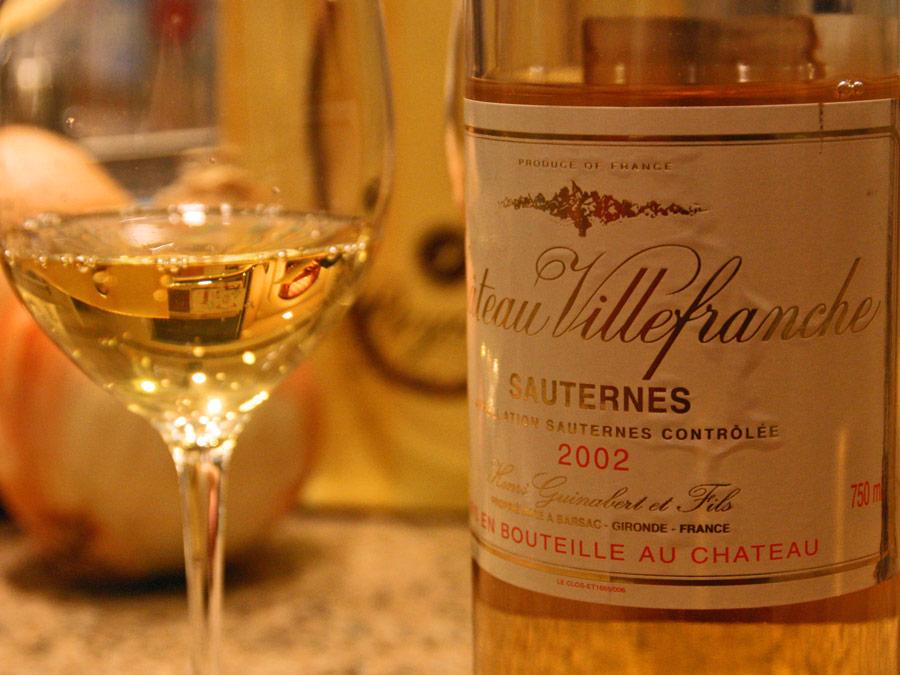 Vino Sauternes, Chateau Villefranche