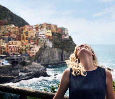 Viajera en Italia.