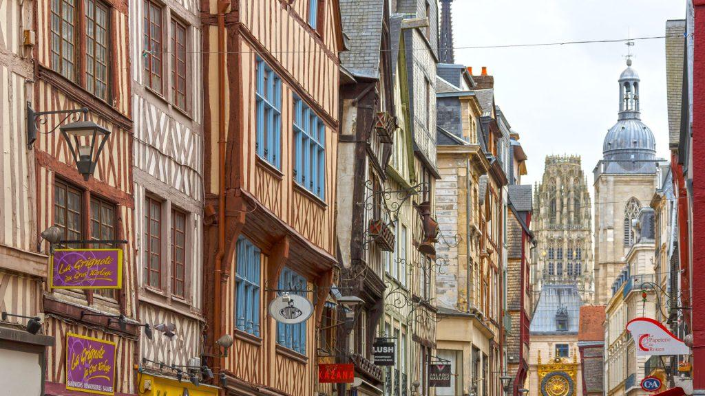 Rouen, France. Casas medievales.
