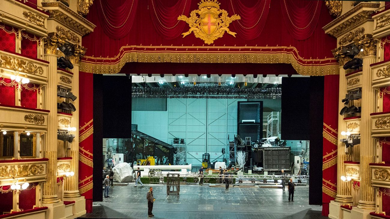 Teatro alla Scala, Milán, Italia.