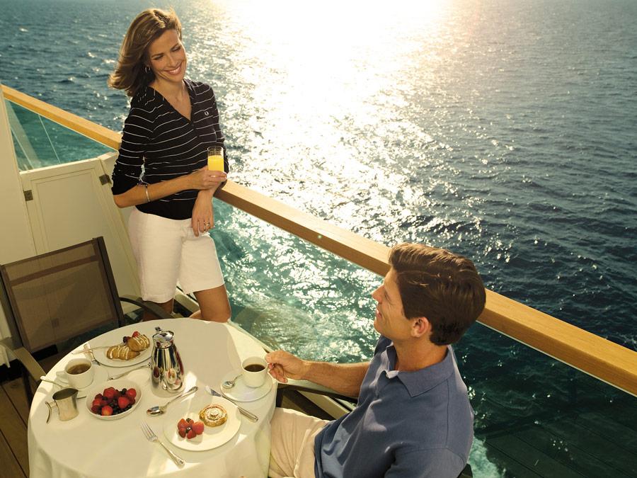 Seabourn. Desayuno en el balcon