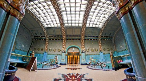 Interior Gellert spa, Budapest, Hungría