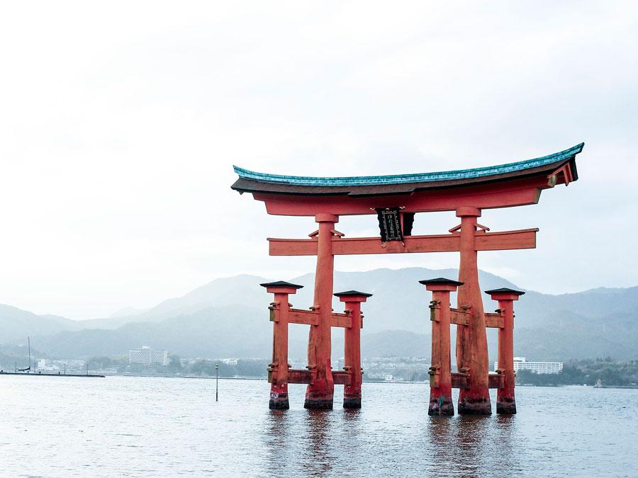 Templo de Itsukushima, Miyajima, Japon
