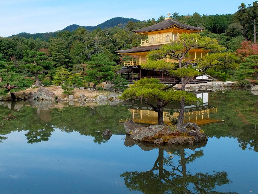 Castillo Kinkakuji, Kyoto, Japon