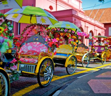 Trishaw en Malacca
