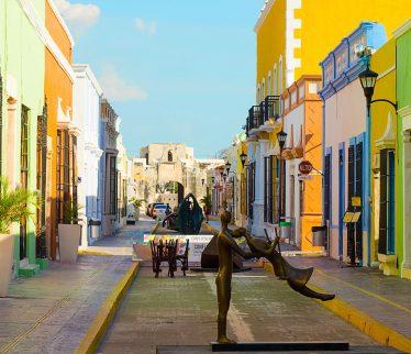 Calle principal en Campeche, México