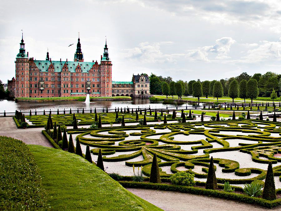 Jardín barroco en el Castillo de Frederiksborg, Copenhagen