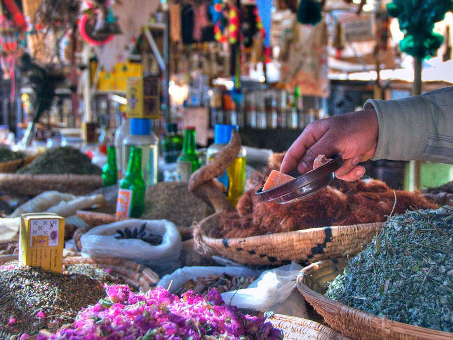 Zoco en Erfoud, Marruecos