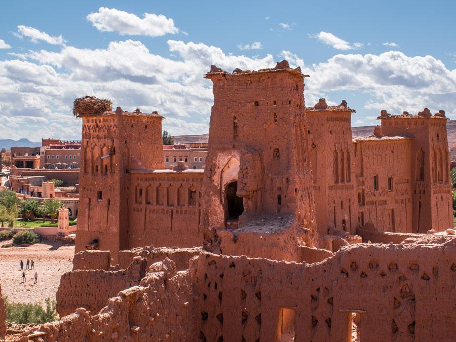 Kasbah en el pueblo abandonado de Ait Benhaddou, Marruecos