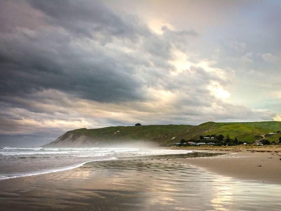 Te Paerahi Beach, Nueva Zelanda