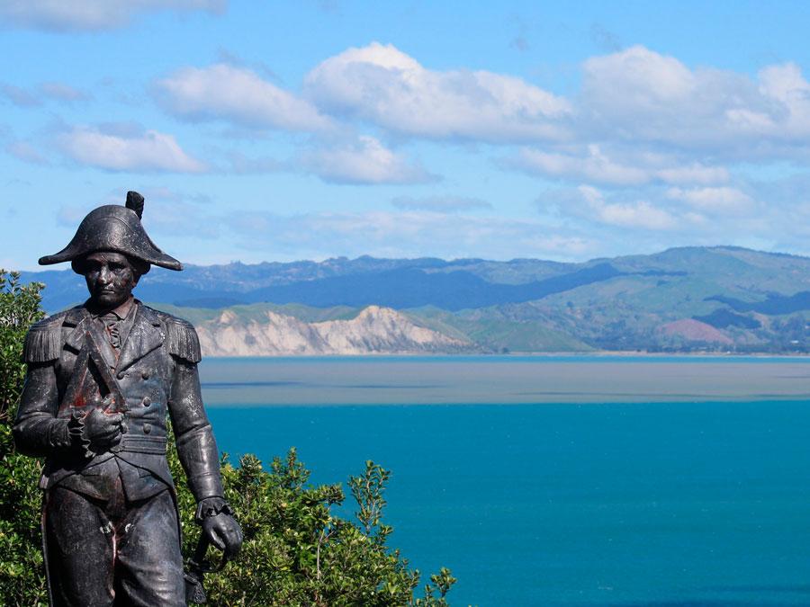 Monumento a Thomas Cook en Gisborne, Nueva Zelanda