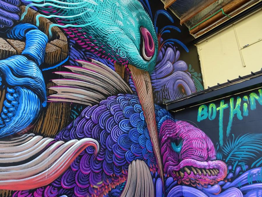 Murales en Napier, Nueva Zelanda