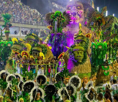 Sambodromo. Carnaval de Rio de Janeiro
