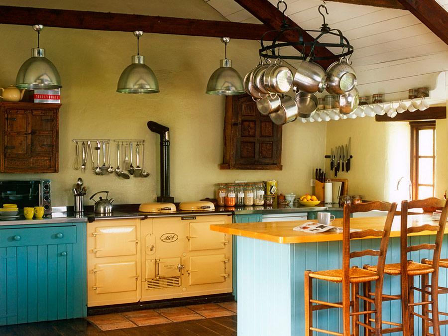 Cocina del Yeotown Retreat, Devon, Inglaterra
