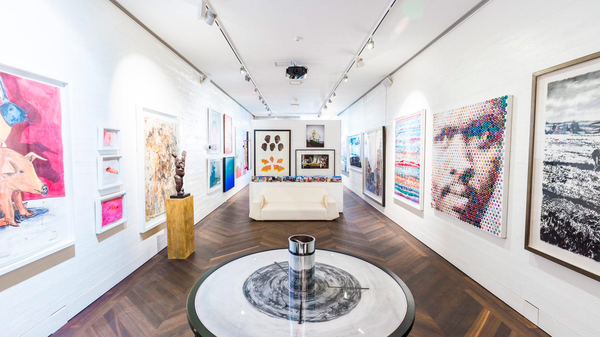 Ellerman House. Galeria de arte interior