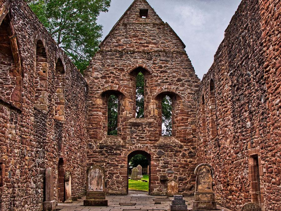 El antiguo priorato en la localidad de Beauly, Escocia