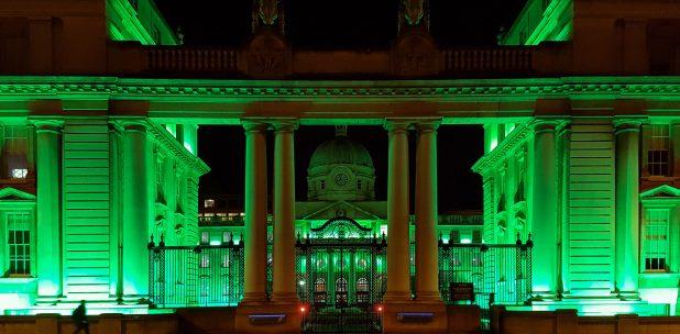 Parlamento de Dublin durante St. Patrick