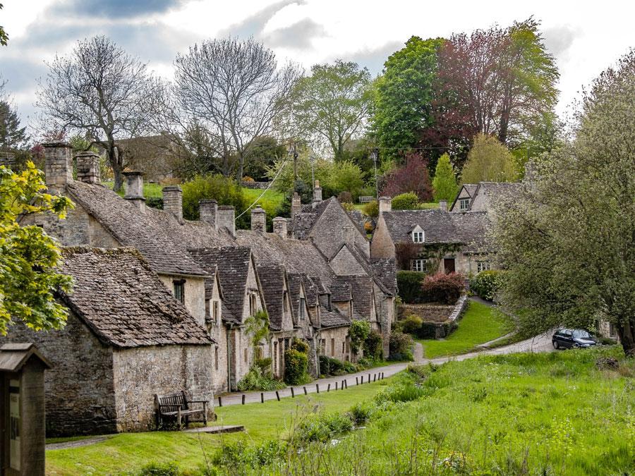 Vista de Bibury, Inglaterra