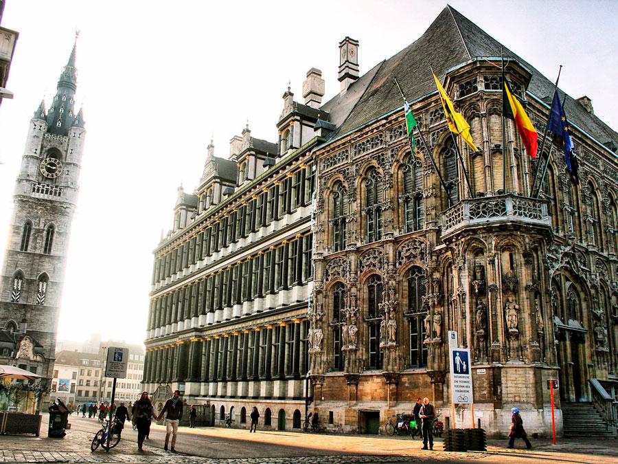 Centro de Gante, Bélgica