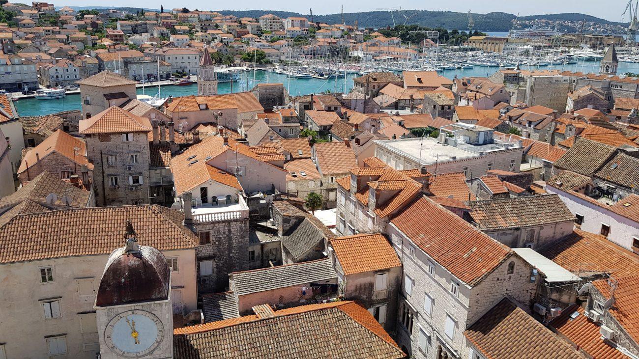 Vista de Trogir, Croacia