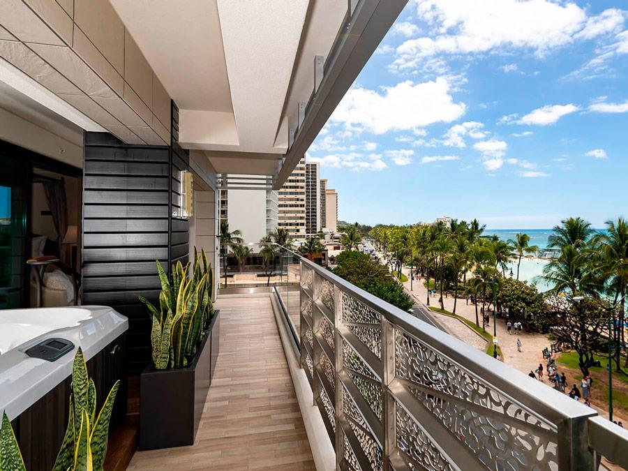 Balcón hacia el mar Espacio Waikiki