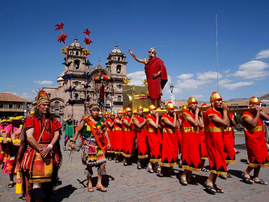 Plaza de Armas. Inti Raymi en Cusco