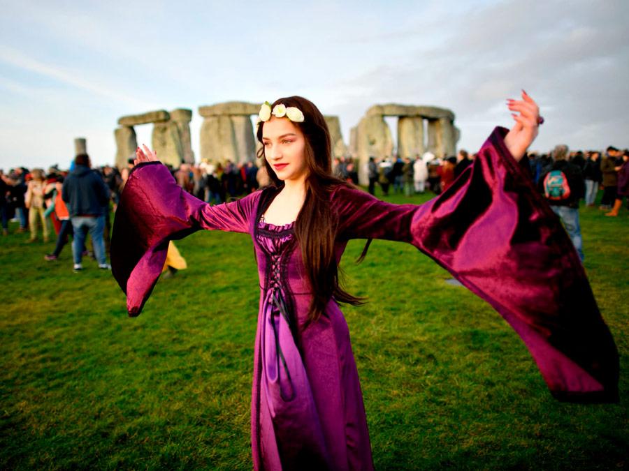 Festival del Solsticio de Verano en Stonehedge, Inglaterra