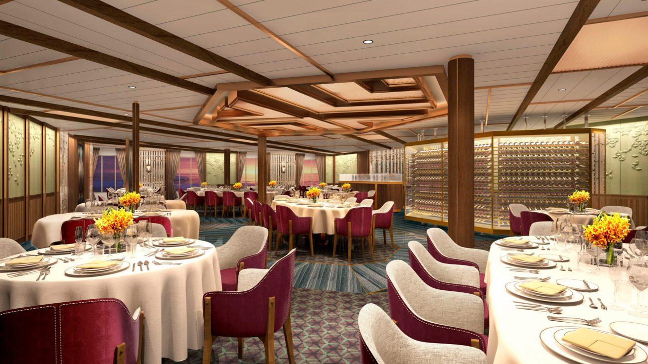 The Restaurante en el Seabourn Venture