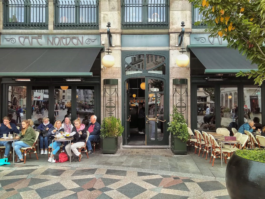 Café Norden en Copenhague.
