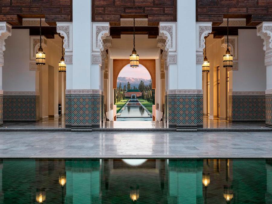 Interiores del Oberoi Marrakesh