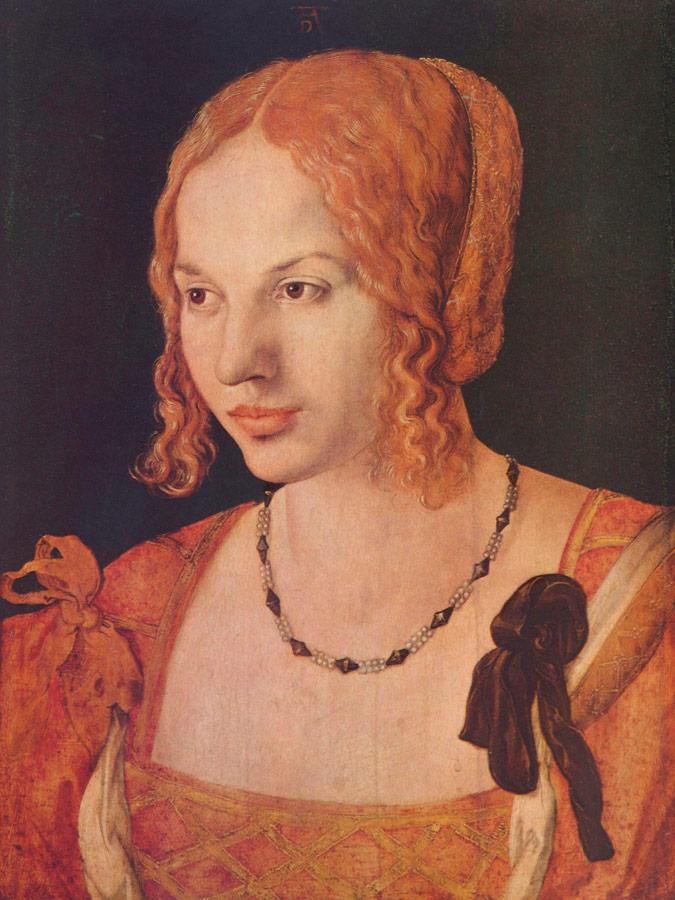 Alberto Durero Retrato de busto de una joven veneciana