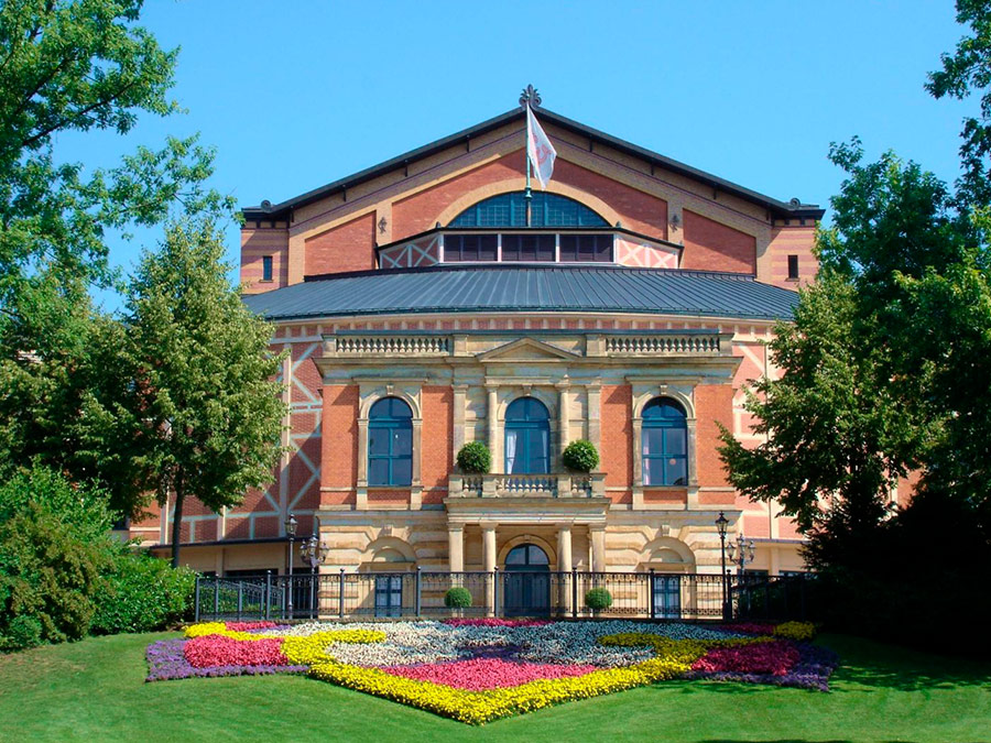 Jardines del Bayreuth Festspielhaus