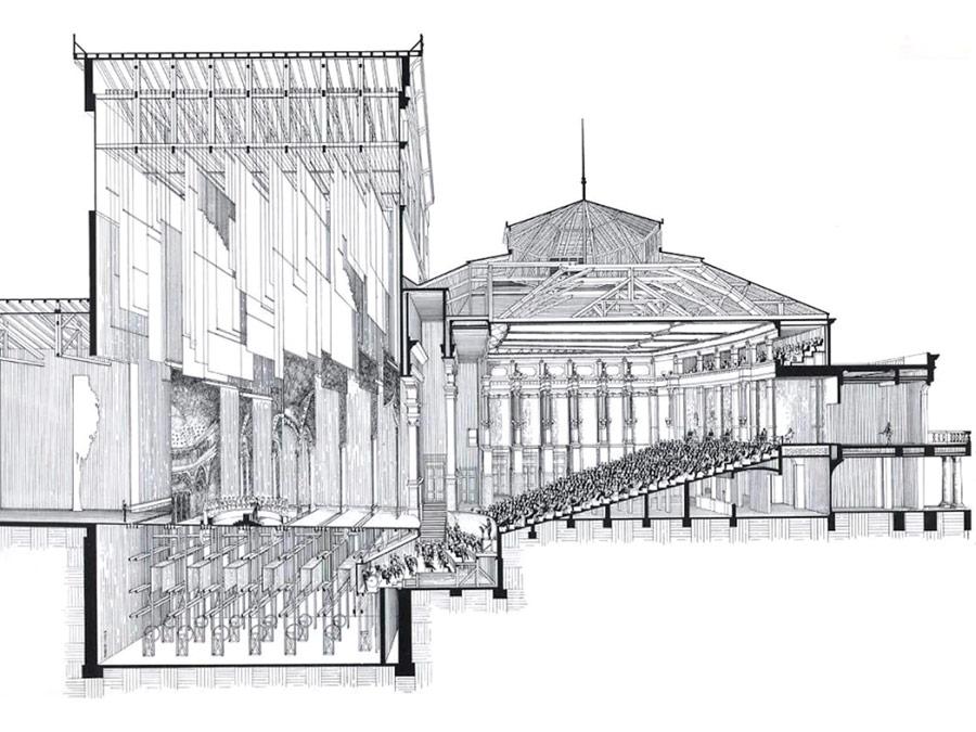 Corte del teatro Bayreuth
