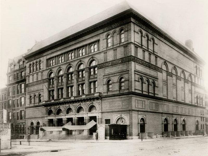 Carnegie Hall, New York - 1891