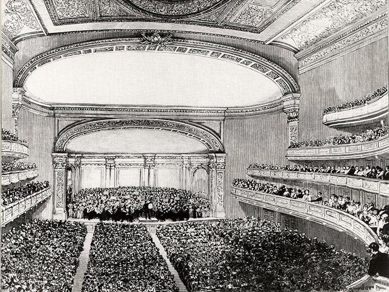 Inauguración Carnegie Hall