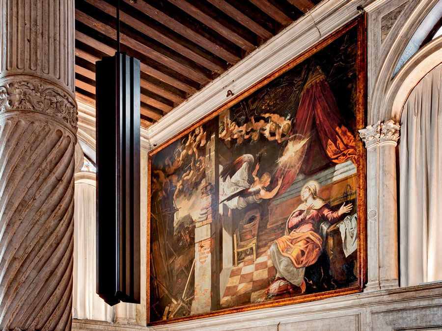 Lienzo de Tintoretto en la Sala Terrena