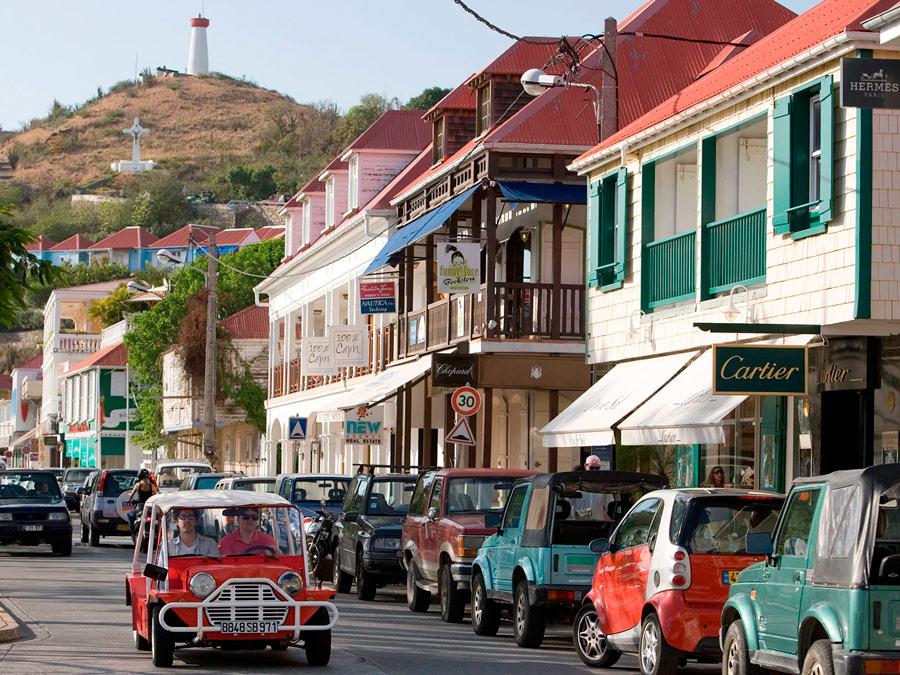 Calles en Gustavia