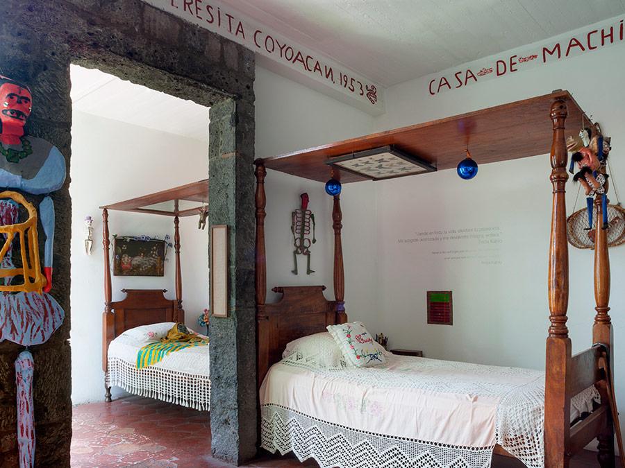 Dos camas Casa Azul. Frida Kahlo