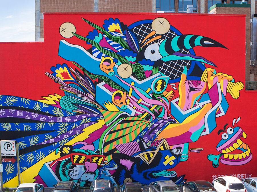 Murales callejeros de Montreal