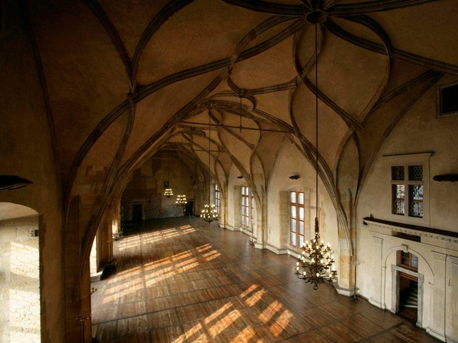 Vladislavha Hall. Salón del Castillo de Praga