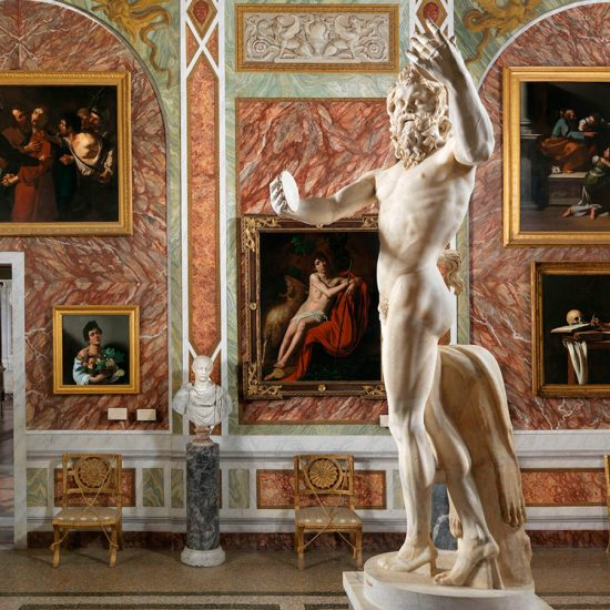 Exhibición de Caravaggio en Villa Borghese, Roma