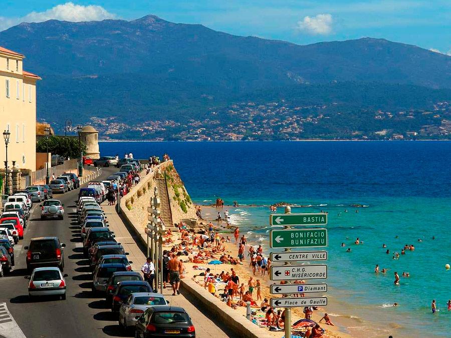Playas del centro en Ajaccio