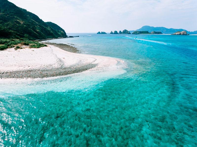 Playa de Akajima, Okinawa, Japón