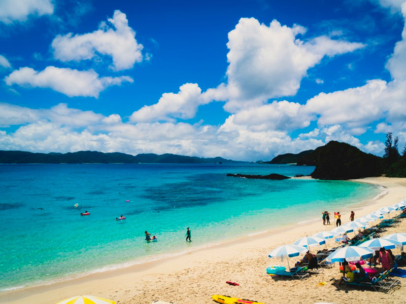 Playa Furazamami, Okinawa, Japón
