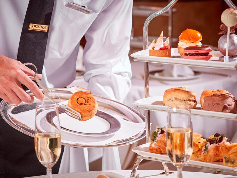 Scons exclusivos del El Afternoon tea de Cunard