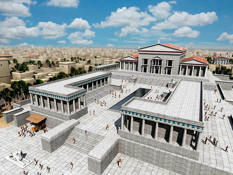 Reconstrucción del Serapeum y Biblioteca en la antigua Alejandría