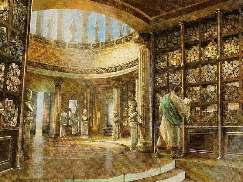 Recreación Biblioteca de Alejandría