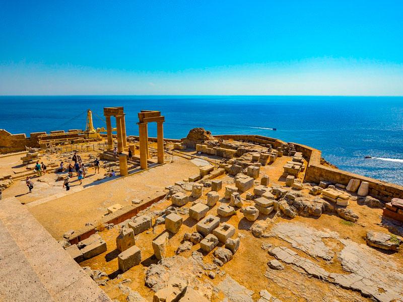 Acropolis de Lindos, Rodas