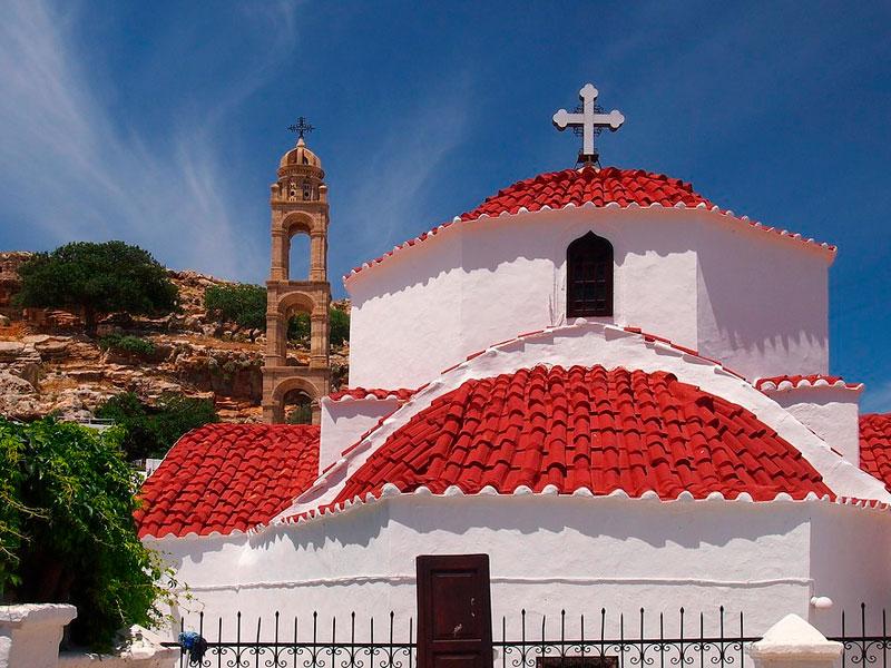 Iglesia en la ciudadela de Lindos, Rodas